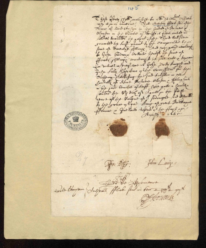 Court record, relevant to an Anthony Flick in Suffolk, in the year 1625.