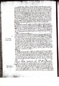 Will of Robert Flick of Creeting St. Peter, in Suffolk, in the year 1651.(PAGE 1)